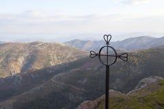 Opiniónes desde arriba del Peña de Francia en Salamanca fotografía de archivo libre de regalías
