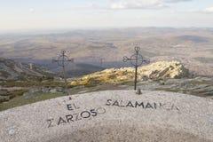 Opiniónes desde arriba del Peña de Francia en Salamanca foto de archivo