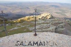 Opiniónes desde arriba del Peña de Francia en Salamanca fotos de archivo