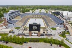 Opiniões aéreas Ross-Ade Stadium On The Campus do Purdue University imagens de stock royalty free