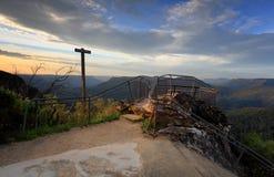 Opiniões azuis do vale da montanha de Austrália das montanhas de Leura Imagem de Stock
