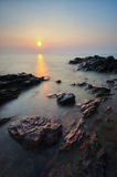 Opiniões bonitas do seascape no mar chinês sul Imagem de Stock
