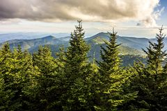 Opiniões cênicos da paisagem na floresta nacional do isgah fotografia de stock royalty free
