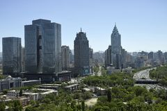 Opiniões da cidade de Urumqi Imagens de Stock