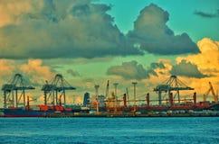 Opiniões da cidade e do lago de Auckland, Imagens de Stock