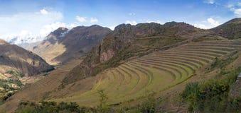 Opiniões da paisagem no vale sagrado do Peru foto de stock royalty free