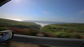 Opiniões de assento de automóvel de passageiros da costa de Califórnia vídeos de arquivo