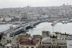 Opiniões de Istambul Foto de Stock Royalty Free