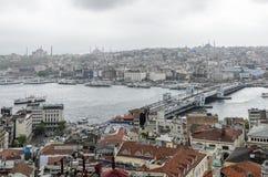 Opiniões de Istambul Fotos de Stock Royalty Free