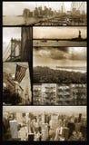 Opiniões de Manhattan no grunge imagem de stock royalty free