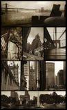 Opiniões de Manhattan no grunge fotos de stock