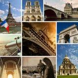 Opiniões de Paris - coleção da foto Foto de Stock Royalty Free