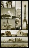 Opiniões de Paris no grunge fotografia de stock royalty free