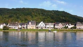 Opiniões de Rhine River Fotos de Stock Royalty Free
