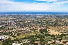 Opiniões de San Marino Fotos de Stock