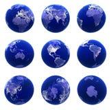 Opiniões do globo Fotografia de Stock