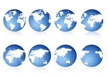 Opiniões do globo ilustração stock