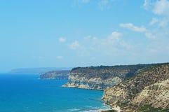 Opiniões do mar de Kourion Imagem de Stock