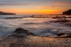 Opiniões do nascer do sol em Malabar Sydney Australia fotos de stock