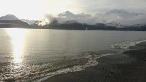 Opiniões litorais de Alaska vídeos de arquivo