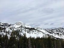 Opiniões majestosas do inverno em torno de Wasatch Front Rocky Mountains, Brighton Ski Resort, perto do vale de Salt Lake e de He Imagens de Stock Royalty Free