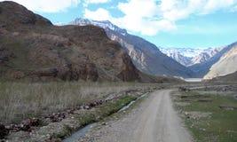 Opiniões nas montanhas Himalayan, India da estrada foto de stock