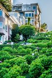 Opiniões superiores da cidade da rua do lombard em San Francisco Califórnia Foto de Stock