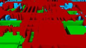 Opini?n brillante futurista del primer del circuito, 3d fondo, contenido generado por ordenador, placa de circuito impresa futuri stock de ilustración