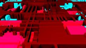 Opini?n brillante futurista del primer del circuito, 3d fondo, contenido generado por ordenador, placa de circuito impresa futuri libre illustration