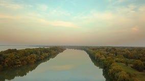 Opini?n de Danubio del r?o almacen de video