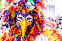 Opini?n de la foto en la ciudad de Venecia durante el d?a de fiesta del carnaval fotografía de archivo libre de regalías