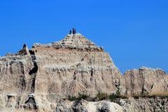 Opini?n de la tarde del parque nacional de los Badlands foto de archivo libre de regalías