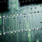 Opini?n del circuito integrado imagenes de archivo