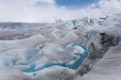Opini?n del detalle de las formaciones de hielo del glaciar de Perito Moreno imagenes de archivo