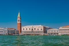 Opini?n del palacio del dux del Gran Canal en Venecia imagen de archivo libre de regalías