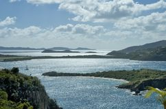 Opini?n esc?nica del Caribe de British Virgin Islands imagen de archivo