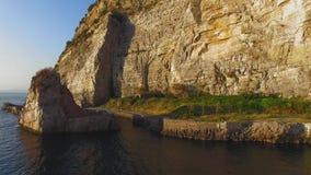 Opini?n a?rea de la playa de la meta de la costa de Sorrento, concepto del viaje, espacio de la puesta del sol para el texto, via almacen de video