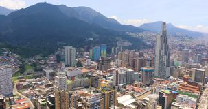 Opini?n a?rea del distrito de Candelaria del La de Bogot? almacen de video