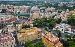 Opini?n a?rea la Ciudad del Vaticano imagen de archivo
