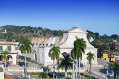 Opini?n sobre las casas viejas de la ciudad Trinidad, Cuba fotografía de archivo libre de regalías