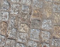 Opini?nes cercanas detalladas sobre las calles y las aceras del guijarro en perspectivas distintas fotografía de archivo