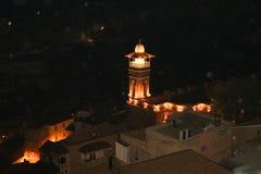 Opini?o da noite da cidade velha de Tbilisi foto de stock royalty free