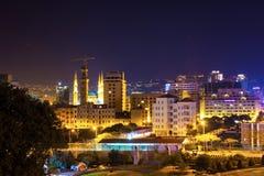 Opini?o da noite de Tripoli, L?bano fotos de stock