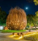 Opini?o da noite de uma semente do c?u do mundo Flora Exposition de Taichung foto de stock royalty free