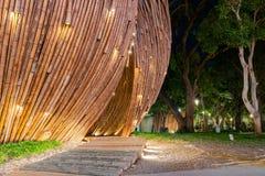 Opini?o da noite de uma semente do c?u do mundo Flora Exposition de Taichung imagens de stock royalty free