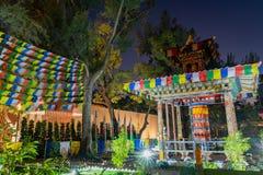 Opini?o da noite do jardim do mundo do mundo Flora Exposition de Taichung fotografia de stock royalty free