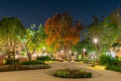 Opini?o da noite do jardim do mundo do mundo Flora Exposition de Taichung imagem de stock royalty free