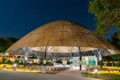 Opini?o da noite do jardim do mundo do mundo Flora Exposition de Taichung imagens de stock royalty free