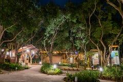 Opini?o da noite do jardim do mundo do mundo Flora Exposition de Taichung imagens de stock