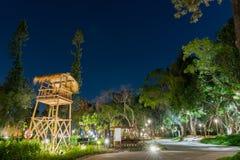 Opini?o da noite do jardim do mundo do mundo Flora Exposition de Taichung foto de stock royalty free